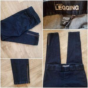 NY&Co Ankle Zipper Low Rise Skinny Leggings